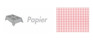 Papieren placemats