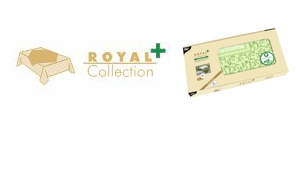 "Waterdichte PV-tissue napperons ""Royal Collection Plus"""