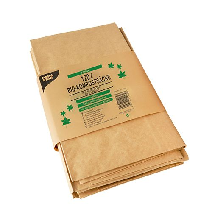 Bio-Kompostsäcke aus Papier, 120 l, braun, H 110 x B 68 x T 21,5 cm - Bild 2