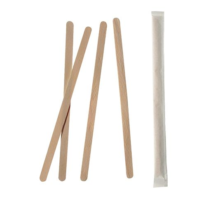 "Rührstäbchen, Holz ""pure"" 17,8 cm einzeln gehüllt - Bild 1"