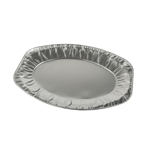 Servierplatten, Alu oval 35 x 24,5 cm - Bild 1