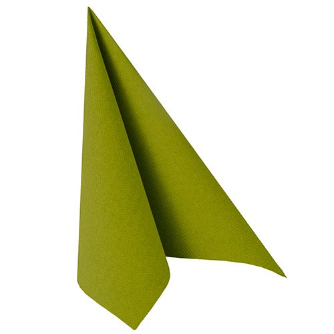 "Servietten, olivgrün ""ROYAL Collection"" 1/4-Falz 40 x 40 cm - Bild 1"