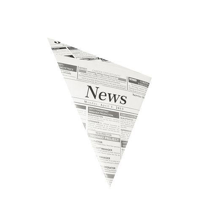 "Spitztüten, Pergamentersatz, fettdicht, Füllinhalt 125 g, gefädelt, 19 x 19 x 27 cm ""Newsprint"" - Bild 1"
