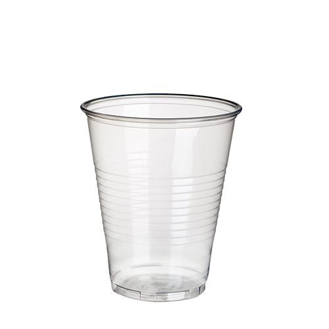 Plastikbecher (PP), 0,3 l Ø 9,5 cm · 11,1 cm transparent mit Schaumrand - Bild 1