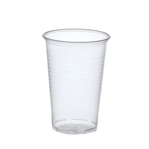 Plastikbecher (PP), 0,5 l Ø 9,5 cm · 13,7 cm transparent mit Schaumrand - Bild 1